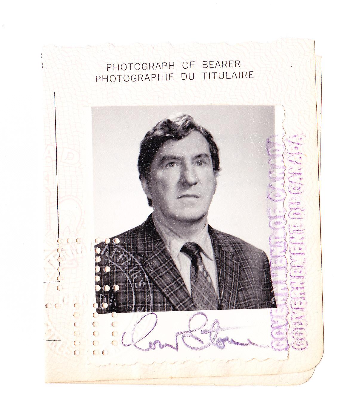 Passport photo, circa 1970's